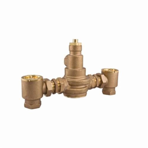 WATTS® 0559171 LFN170 CSUT Master Tempering Valve With Check Stop, 2 x 1-1/4 in, NPT, 125 psi, 7 gpm, Brass Body