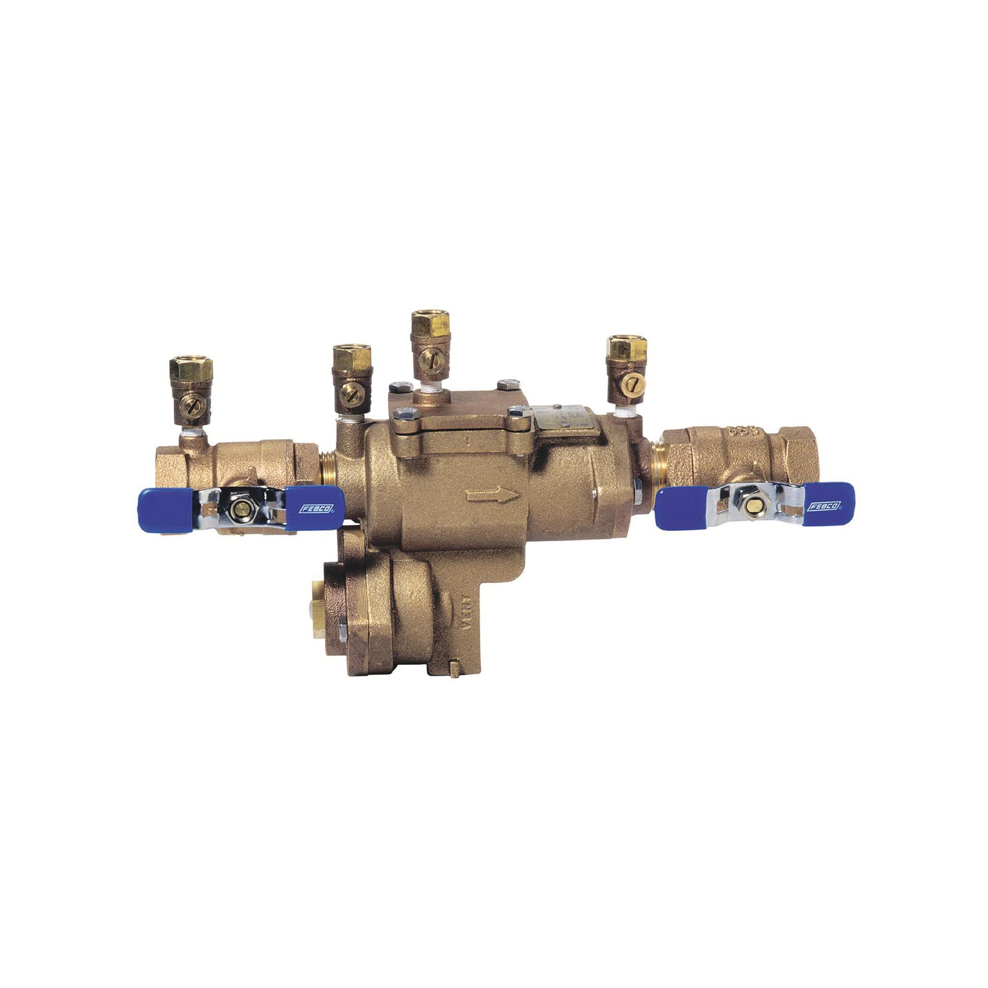 Febco® 0683001 LF860 Small Diameter Reduced Pressure Zone Assembly, 3/4 in, Thread, Quarter-Turn Ball Valve, Cast Copper Silicon Alloy Body