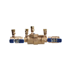 Febco® 0683040 LF850 In-Line Small Diameter Double Check Valve Assembly, 1 in, NPT, Quarter-Turn Ball Valve, Cast Copper Silicon Alloy Body