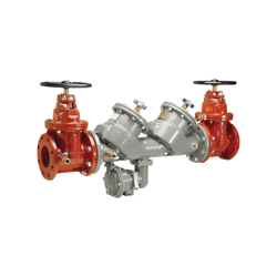 Febco® MasterSeries® 0122942 LF860 In-Line Large Diameter Reduced Pressure Zone Assembly, 6 in, Flange, Resilient Wedge Gate Valve, Ductile Iron Body