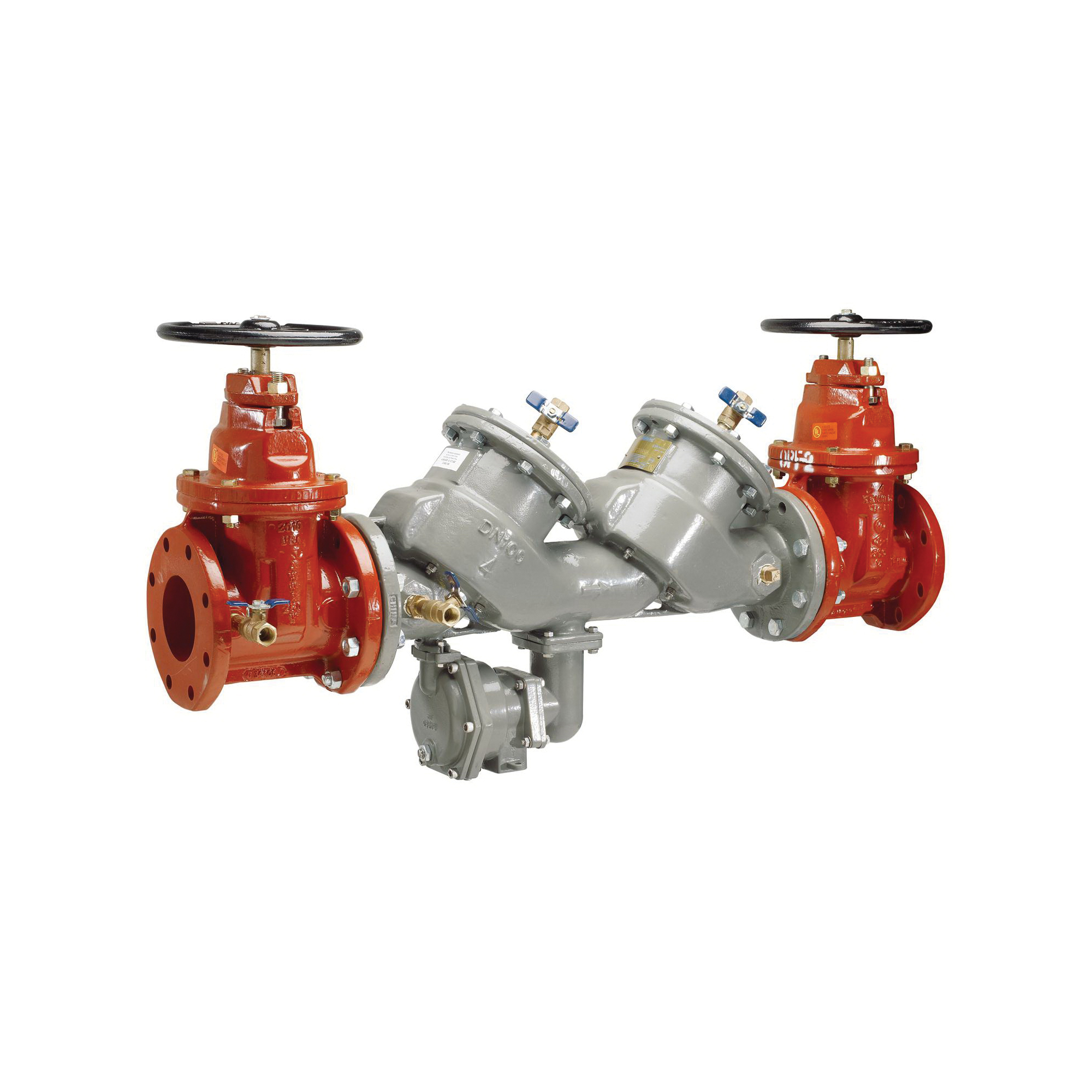Febco® MasterSeries® 0122933 LF860 In-Line Large Diameter Reduced Pressure Zone Assembly, 3 in, Flange, Resilient Wedge Gate Valve, Ductile Iron Body