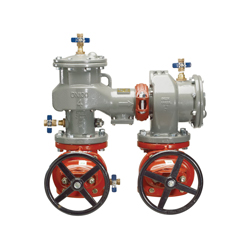 Febco® MasterSeries® 0124548 LF870V N-Pattern Large Diameter Double Check Valve Assembly, 2-1/2 in, Flange, Resilient Wedge Gate Valve, Ductile Iron Body, 150 lb