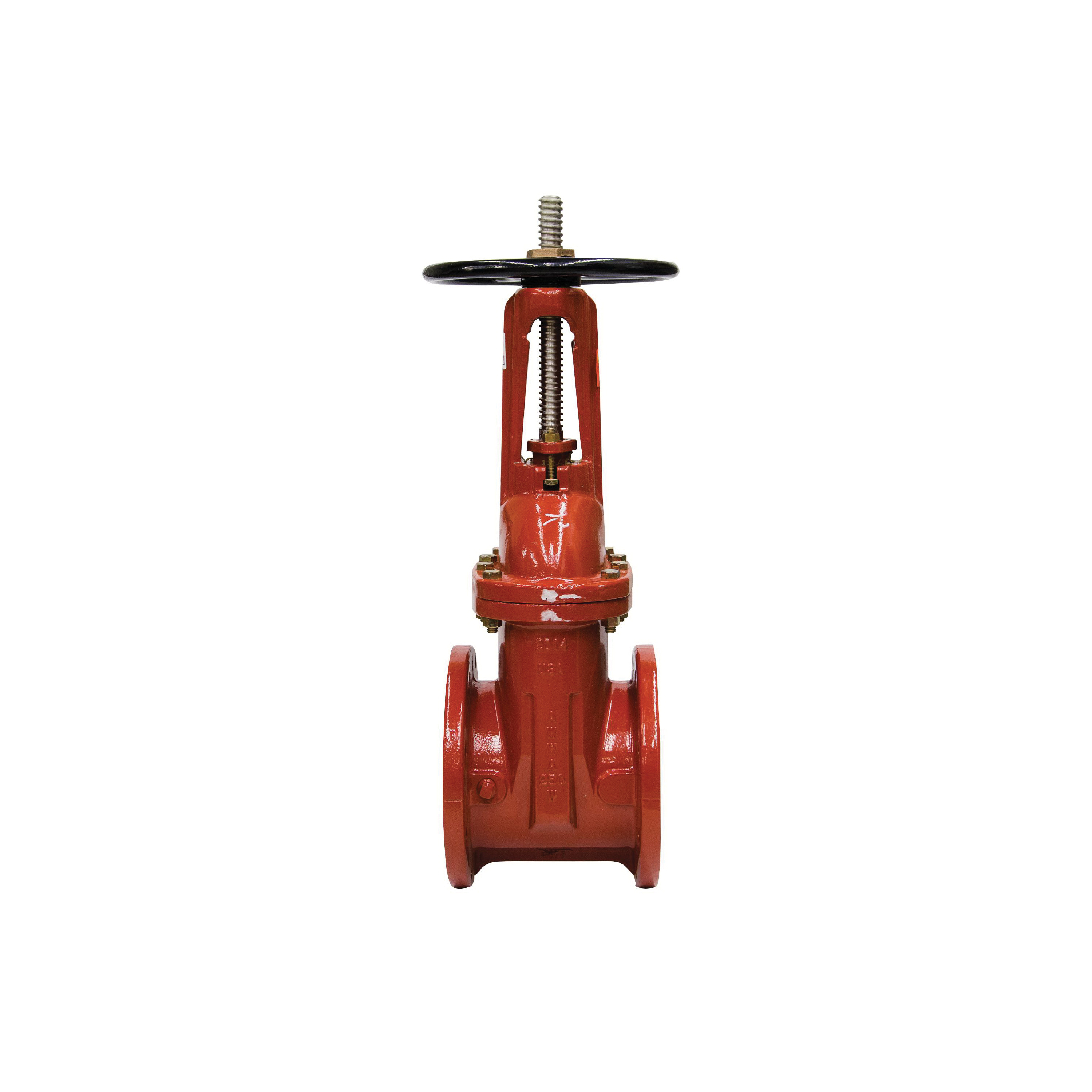 WATTS® 0702330 408 Straight Gate Valve, 8 in, Flange, Cast Iron Body, Cross Handwheel Actuator