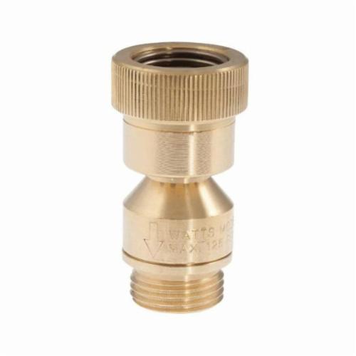 WATTS® 0792099 LFN9-CD Backflow Preventer, 3/4 in, Female Hose Threaded x Male Hose Threaded, Brass Body