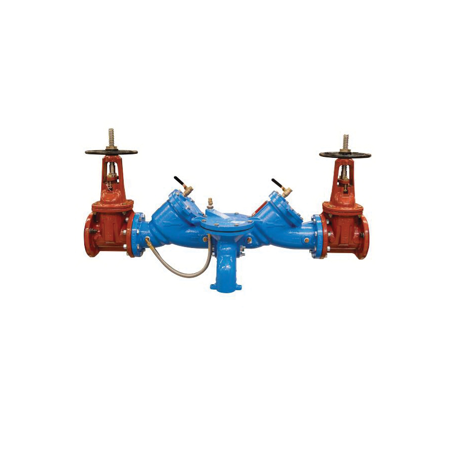 WATTS® 0122807 LF909 Reduced Pressure Zone Assembly, 3 in, Resilient Seated Gate Valve, Cast Copper Silicon Alloy Body