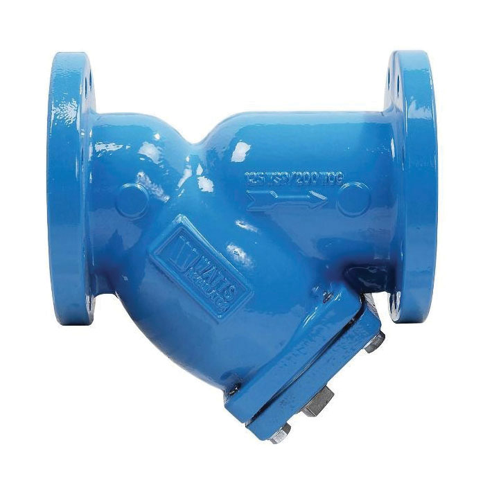 WATTS® 77F-DI-FDA-125 Wye Strainer, 2-1/2 in, 10 in OAL, Flange Connection, 1 in NPT, Cast Iron