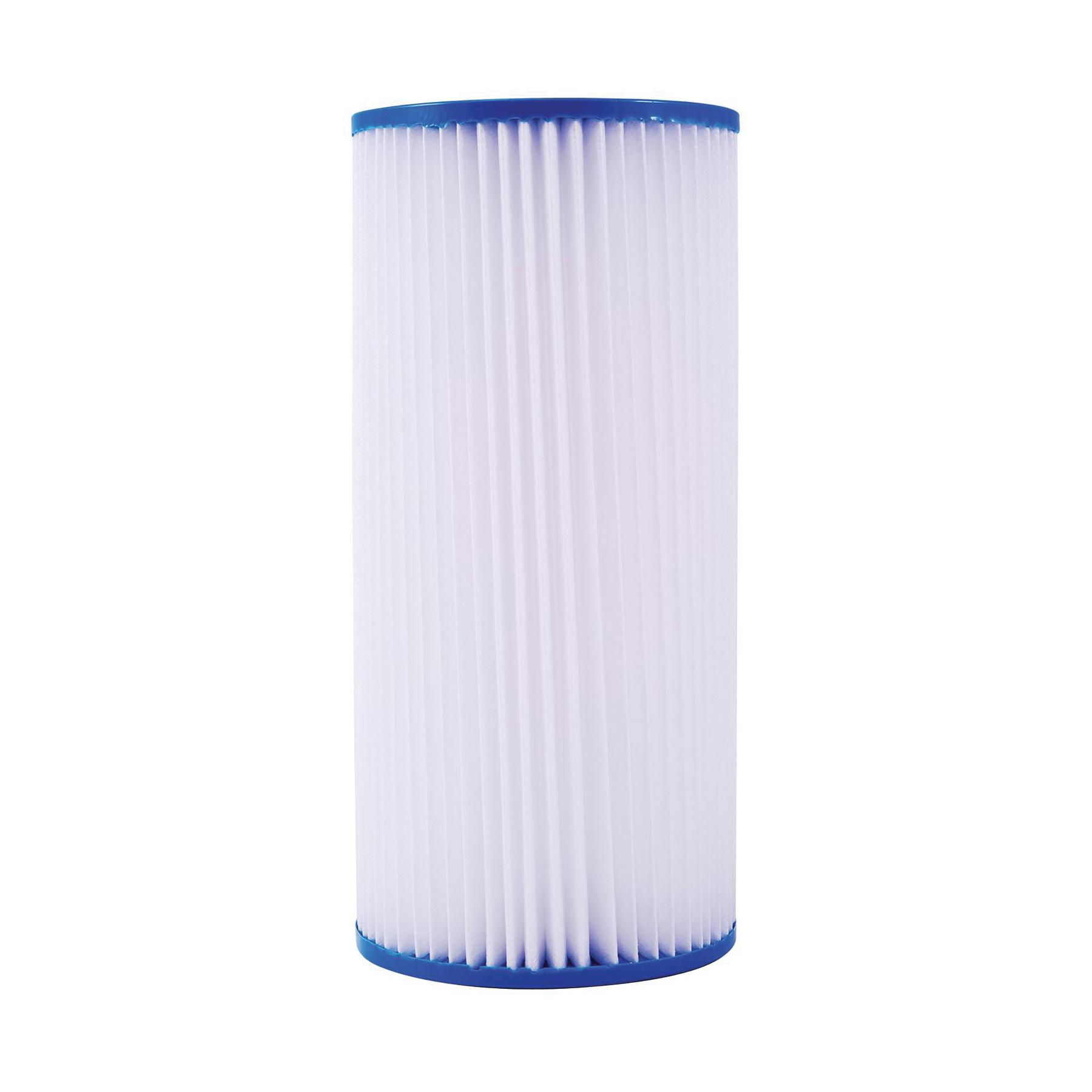 WATTS® PWPL20FF Lead Free Full Flow Pleated Filter Cartridge, 20 in L, Polypropylene