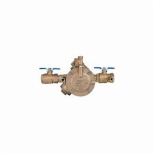 Febco® 825EBV 825Y Y-Pattern Reduced Pressure Zone Assembly, 1 in, NPT, Quarter-Turn Ball Valve, Bronze Body