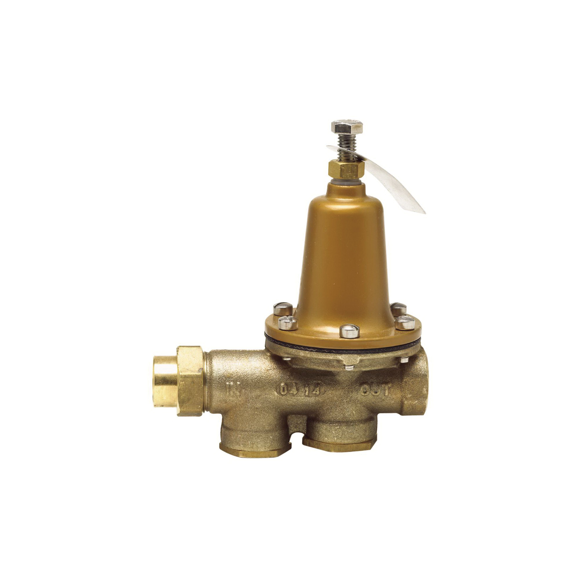 WATTS® 0009373 LF25AUB-Z3 Standard Capacity Pressure Reducing Valve With Bypass Check Valve, 1-1/4 in, FNPT Union x FNPT, 10 to 35 psi, Copper Silicon Alloy Body