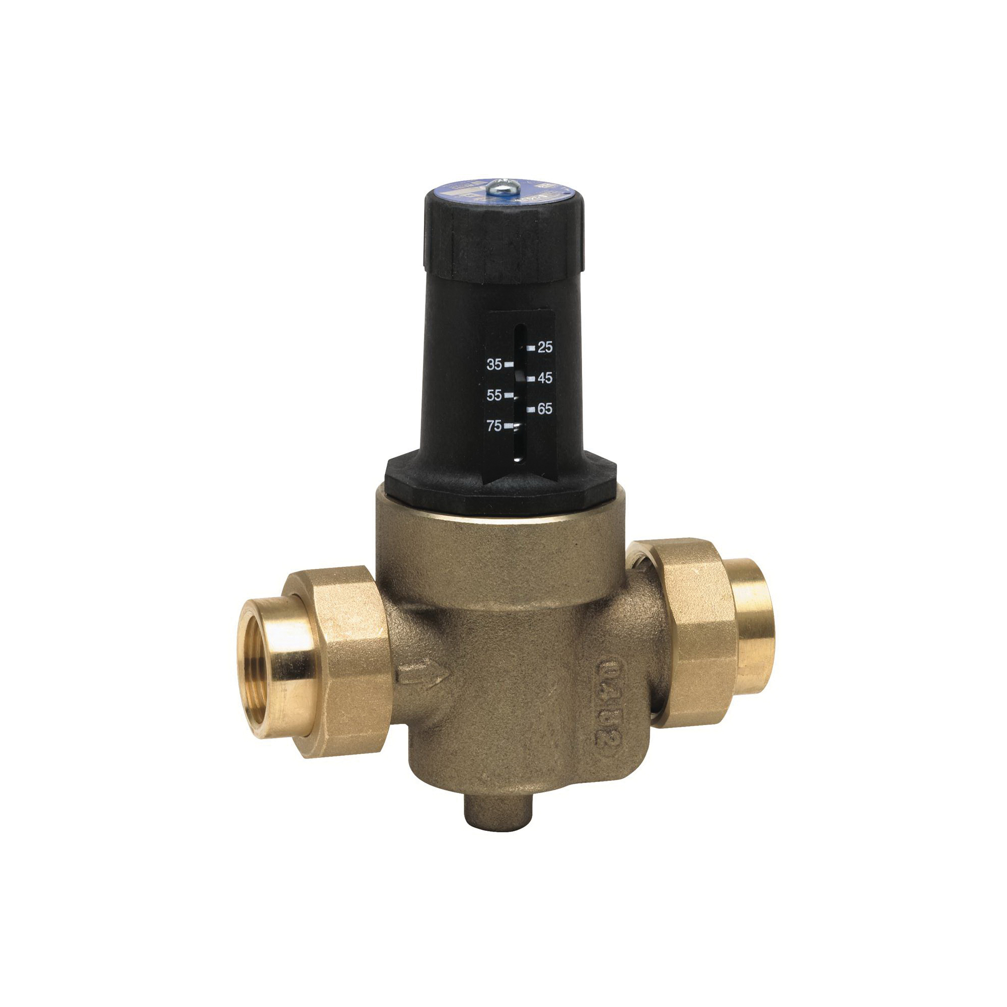 WATTS® 0009482 LFN45B-M1 Standard Capacity Pressure Reducing Valve, 3/4 in, Double Union FNPT, 400 psi Working, Cast Copper Silicon Alloy Body