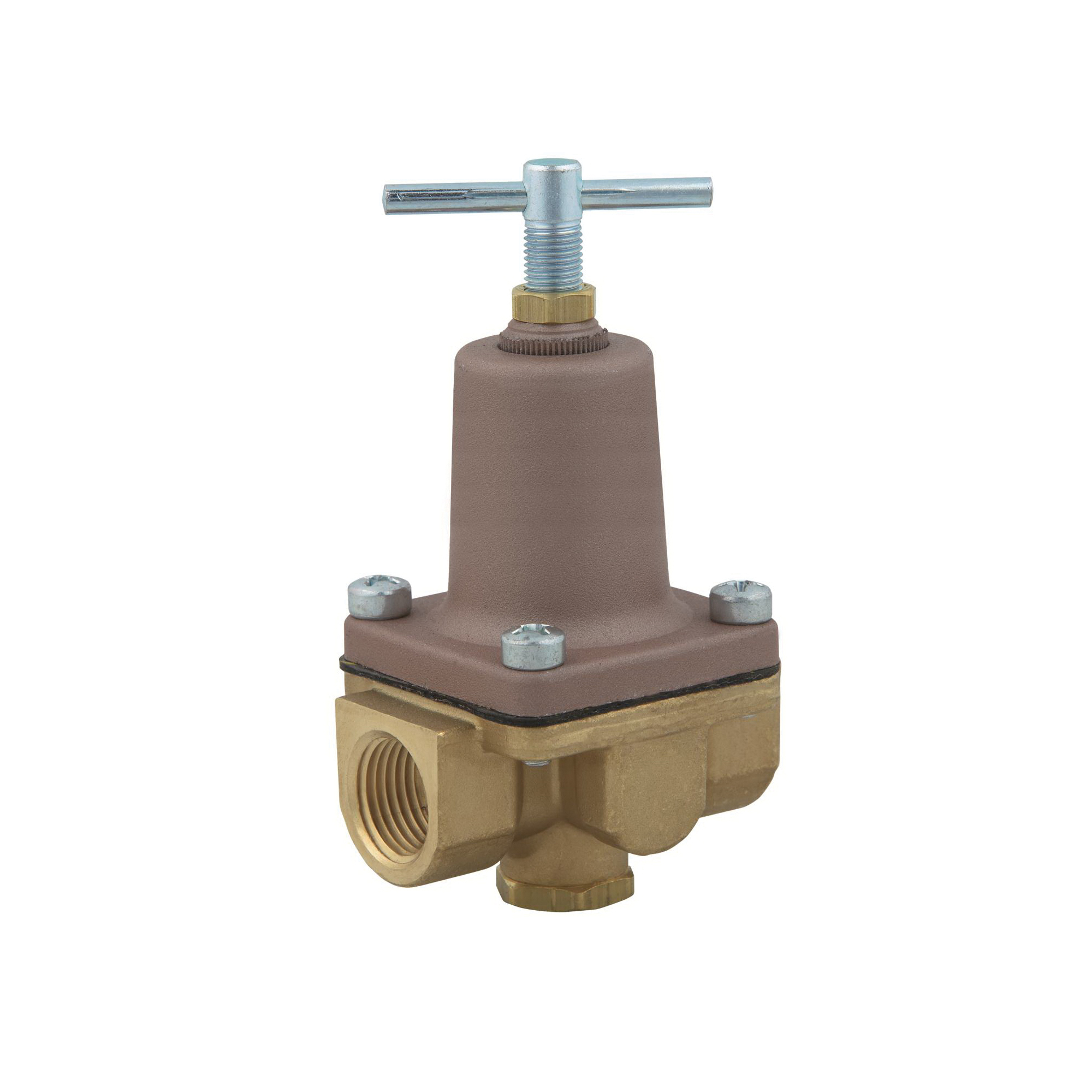 WATTS® 0009818 LF26A 2-Way Small Pressure Regulator, 1/2 in, FNPT, 300 psi, Brass Body