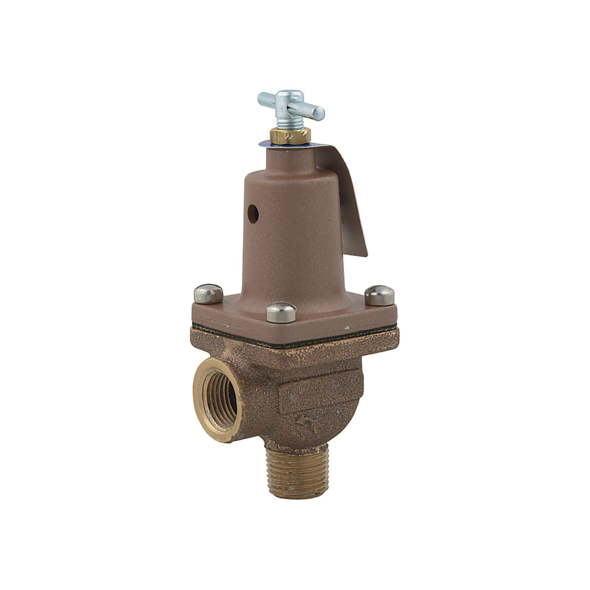 WATTS® 0121399 LFBP30 Bypass Control Relief Valve, 1/2 in, MNPT x FNPT, 10 to 50 psi, Cast Copper Silicon Alloy Body