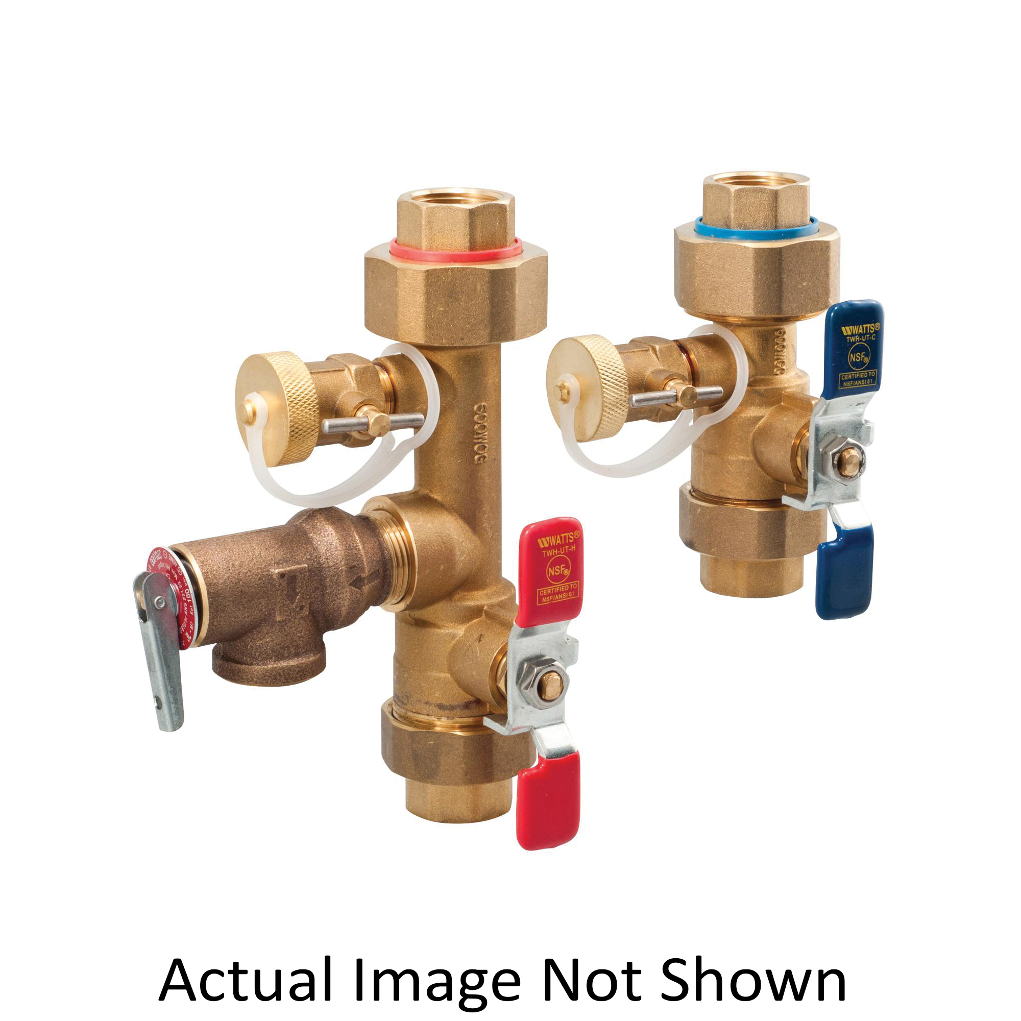 WATTS® 0125110 LFTWH Tankless Water Heater Valve Set, 3/4 in Union x FNPT, Copper Silicon Alloy