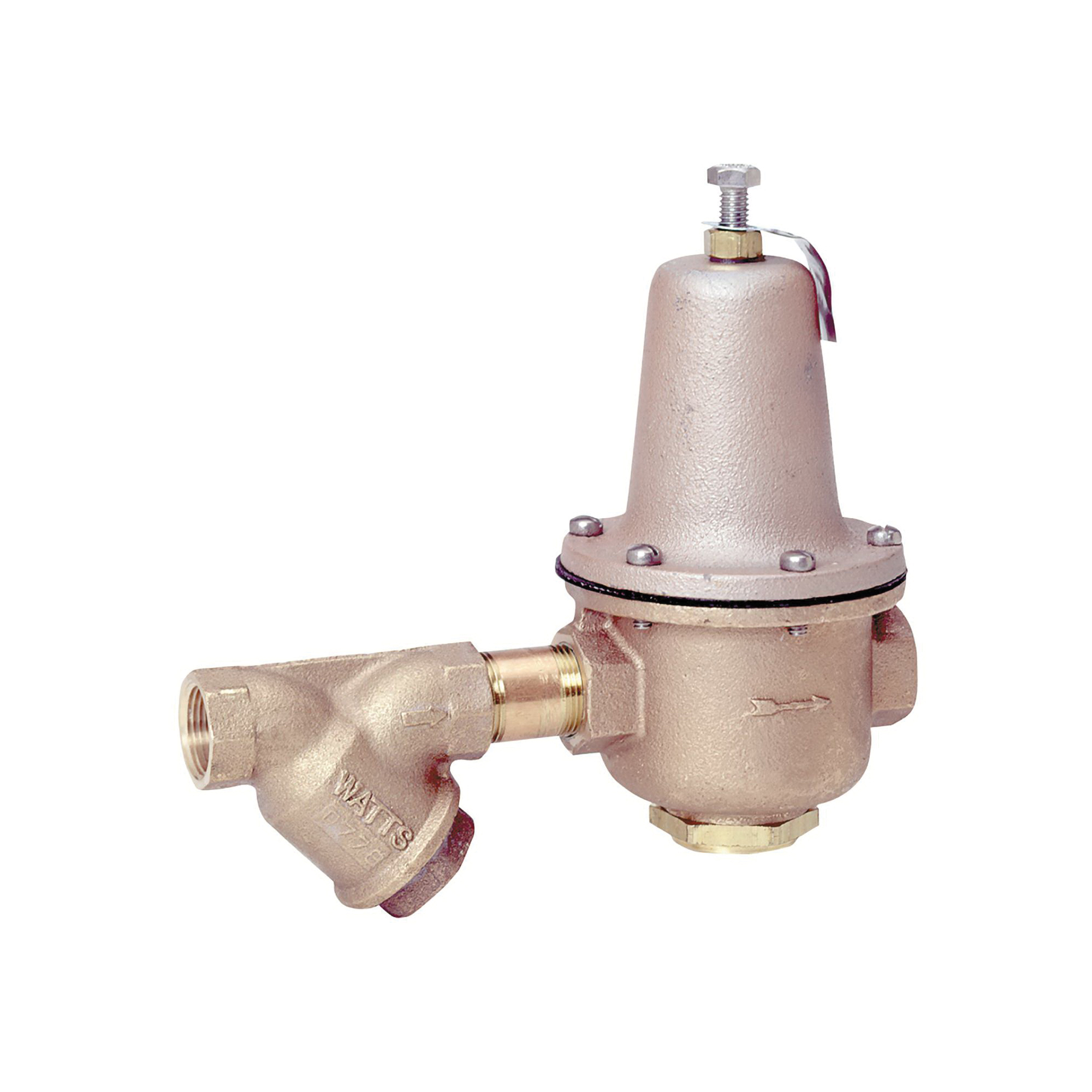 WATTS® LF223-S High Capacity Lead Free Pressure Reducing Valve, 1-1/2 in, FNPT Inlet with Strainer x FNPT Outlet