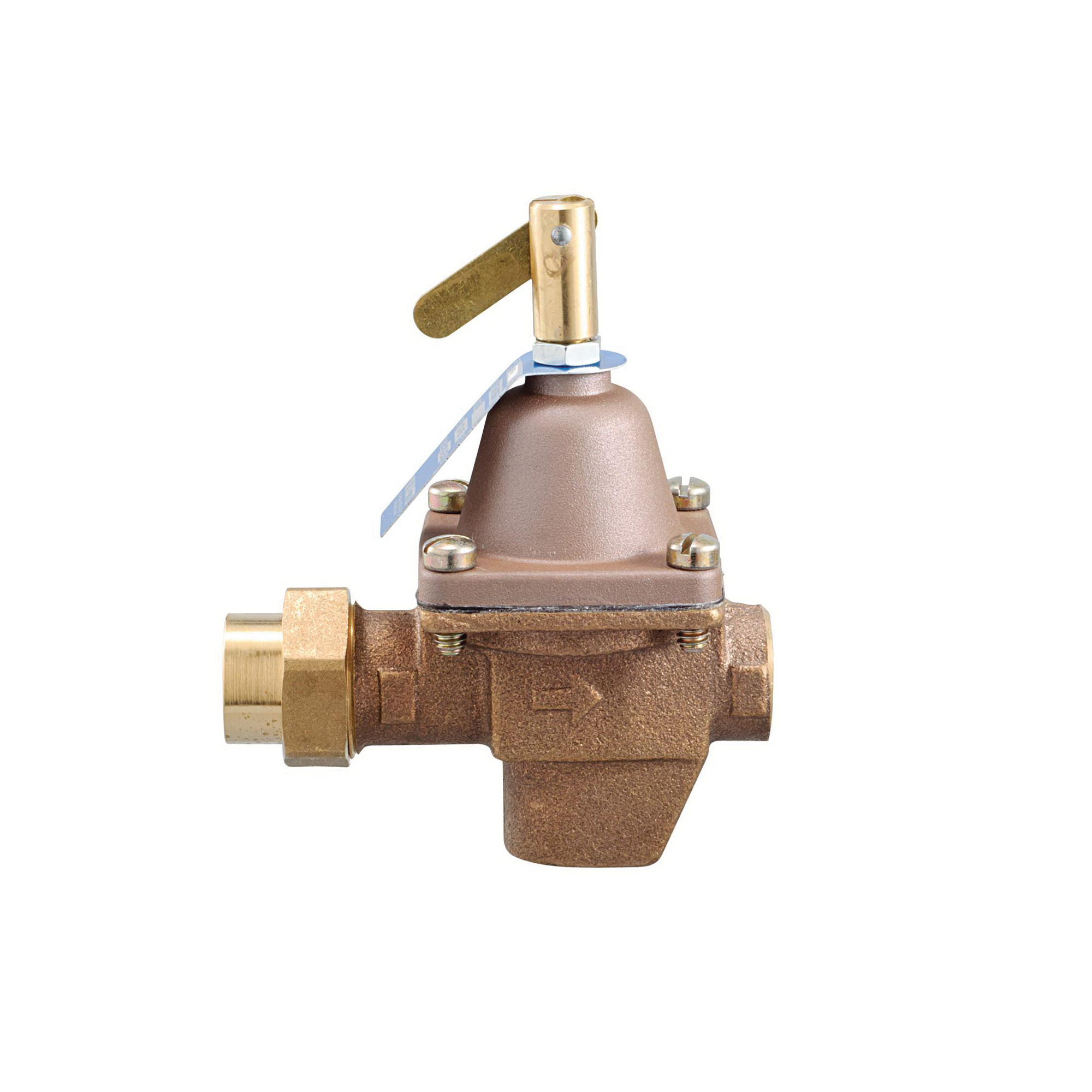 WATTS® 0386421 1156F Water Feed Regulator, 1/2 in, Union Solder Inlet, 100 psi, Bronze Body