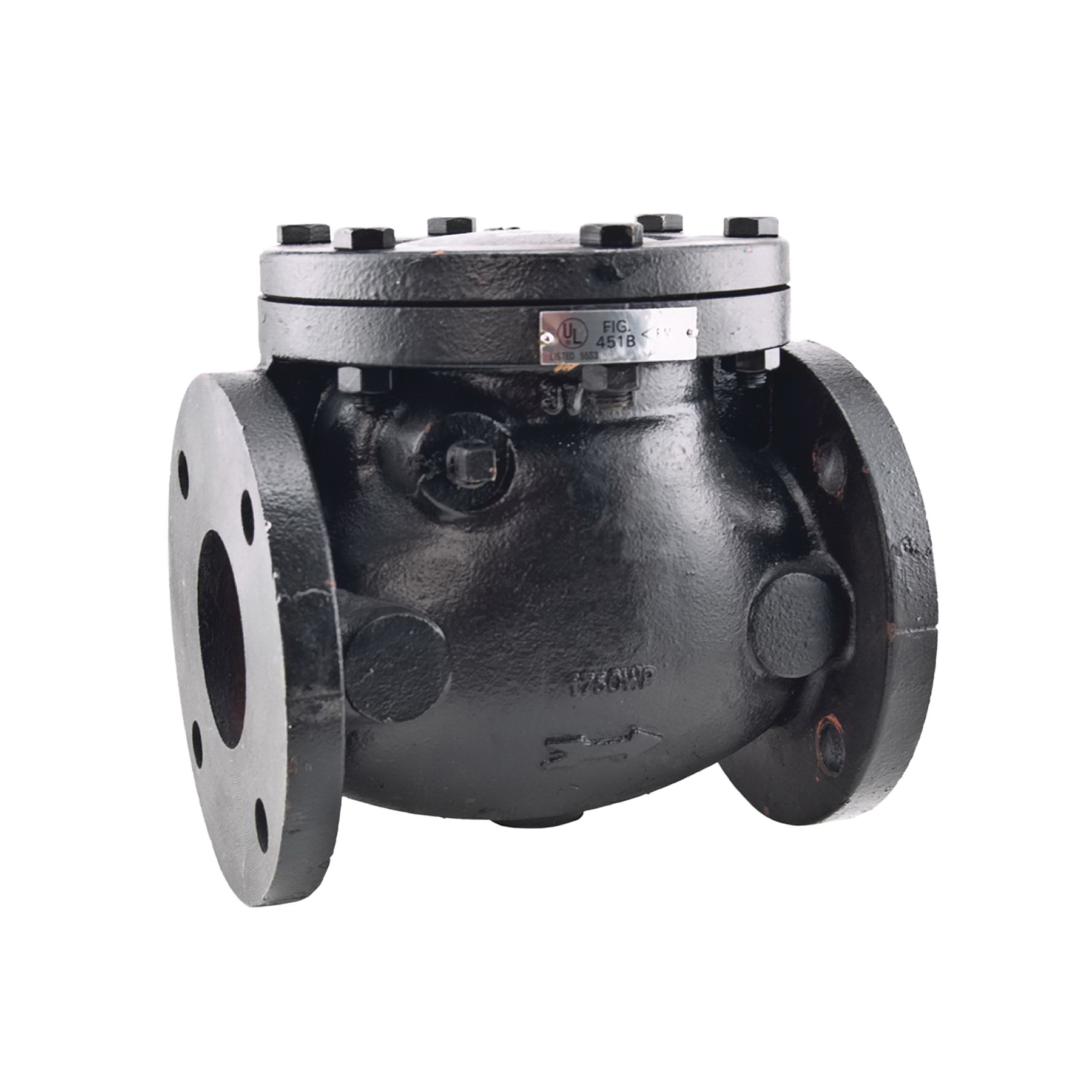 WATTS® 0390020 411 Swing Check Valve With Resilient Disc Seat, 3 in, Flange, 125 lb, Cast Iron Body