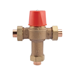 WATTS® 0559100 LF1170 Temperature Control Valve, 1/2 in, Union Solder, 150 psi, 0.5 gpm, Copper Silicon Alloy Body