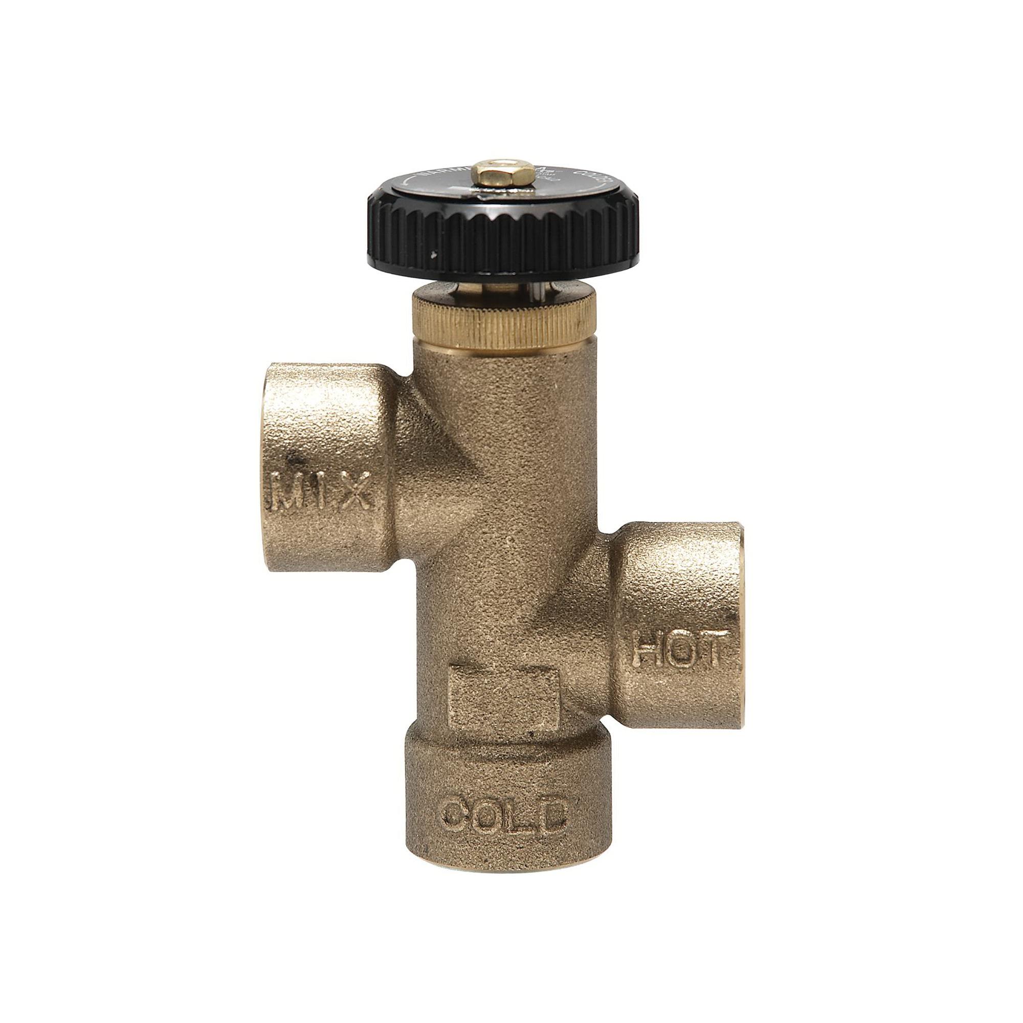 WATTS® 0559130 LF70A Extender Tempering Valve, 1/2 in, Thread, 150 psi, 2 gpm, Brass Body