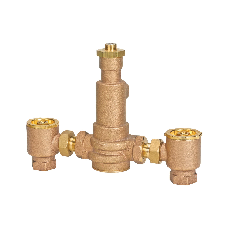 WATTS® 0559167 LFN170 Master Tempering Valve, 3/4 in, NPT, 125 psi, Brass Body