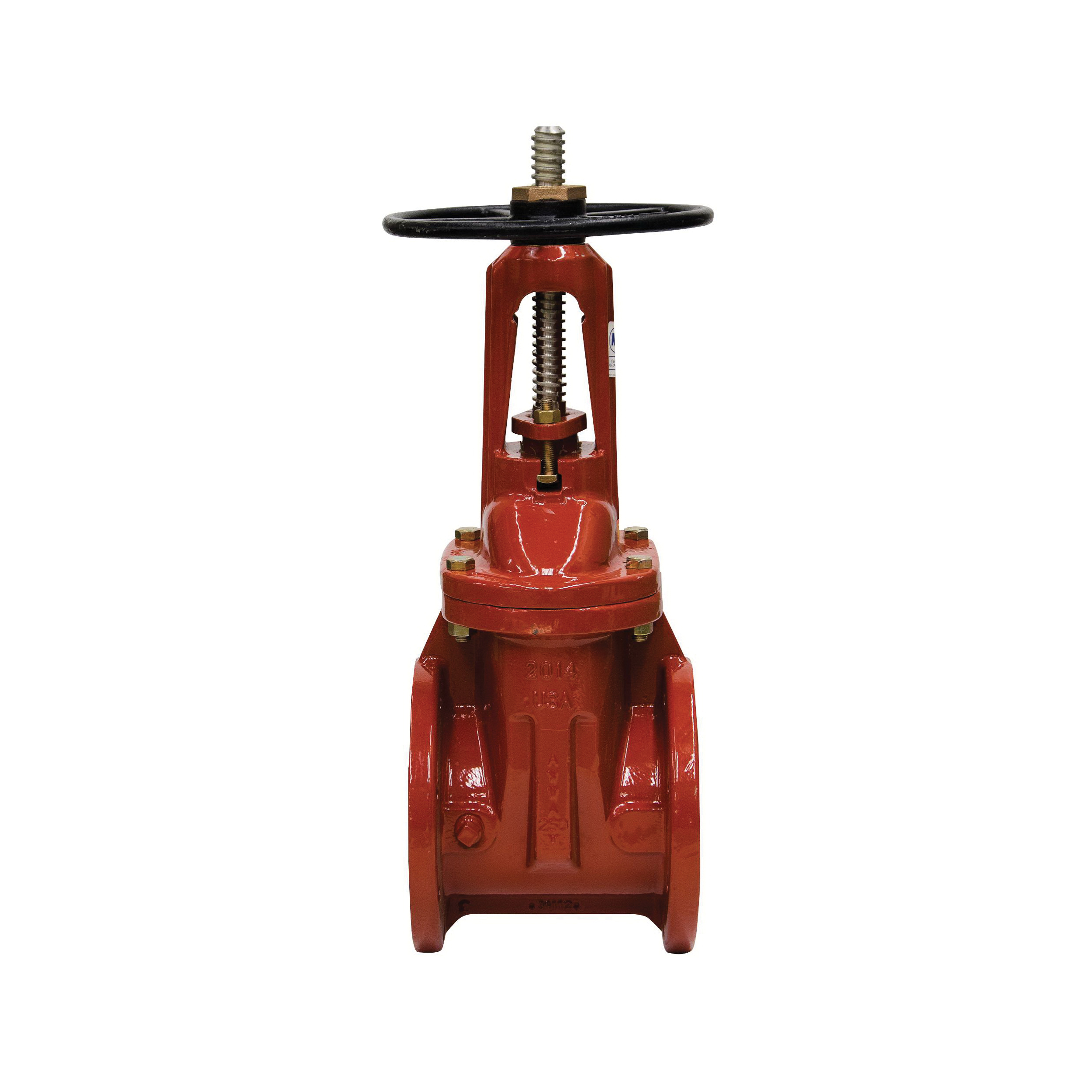 WATTS® 408-OSYRW Lead Free Gate Valve, 6 in, Flanged, Cast Iron, Handwheel Actuator