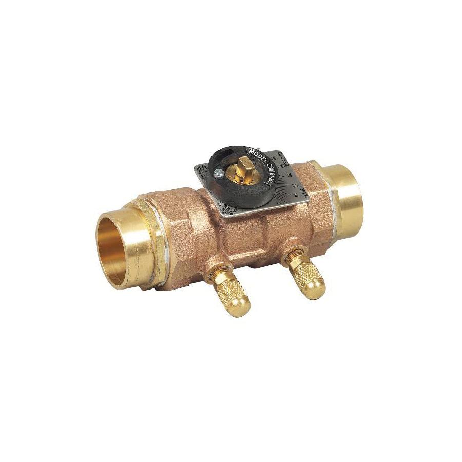 WATTS® 0856811 LFCSM-61-S Flow Measurement Valve, 1 in, Solder, Brass Body