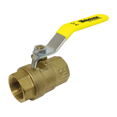Webstone 41705 Ball Valve, 1-1/4 in, IPS, Brass Body, Full Port