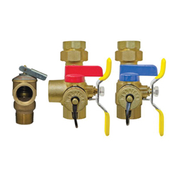 Webstone The Isolator® E-X-P E2™ Clean Brass™ H-44443WPR 4444 Tankless Water Heater Service Valve Kit, Brass, Domestic