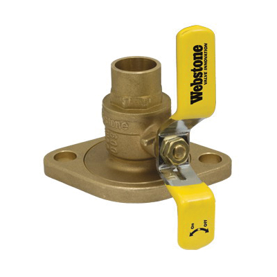 Webstone The Isolator® Clean Brass™ H-51403W Ball Valve, 3/4 in, C x Rotating Flange, Brass Body, Full Port