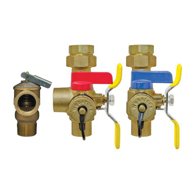 Webstone The Isolator® E-X-P E2™ Clean Brass™ H-54443WPR 5444 Tankless Water Heater Service Valve Kit, Brass, Import