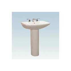 Western Pottery L270-4 Lavatory Sink, 4 in Faucet Hole Spacing, 26-3/4 in W x 19-1/4 in D x 34 in H, Pedestal Mount, White