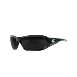 EDGE® XB116-A1 Brazeau Non-Polarized Universal Safety Glass, Scratch Resistant Smoke Lens, Full Framed Black Frame