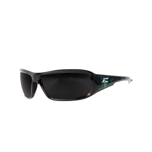 EDGE® XB116-A1 Brazeau Non-Polarized Universal Safety Glass, Scratch Resistant Smoke Lens, Full Framed Black Frame