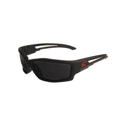 EDGE® SK136 Kazbek Non-Polarized Safety Glass With Red Edge Logo, Torque Smoke Lens, 99.9% UVA/UVB/UVC Rays UV