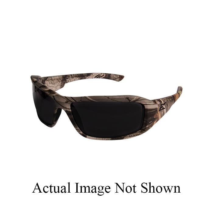 EDGE® TXB216CF Brazeau Polarized Safety Glass, Wrap-Around Frame, Scratch Resistant Coating, Smoke Lens, 99.9% UVA/UVB/UVC Rays UV