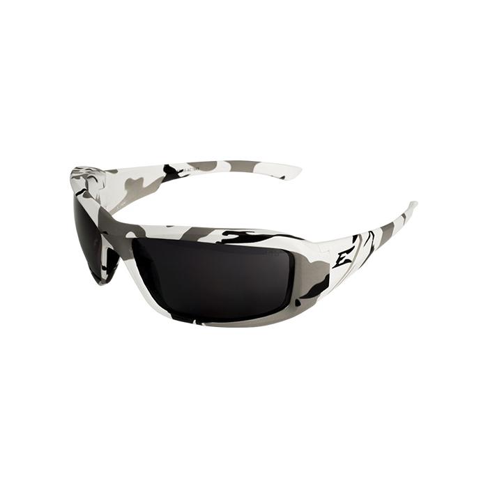 EDGE® XB116-AC Brazeau Non-Polarized Safety Glass, Smoke Lens, Arctic Camo Frame