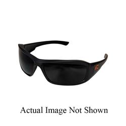 EDGE® XB136-E2 Brazeau Non-Polarized Safety Glass With Orange E Logo, Smoke Lens, Black Frame