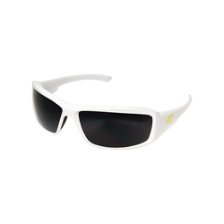 EDGE® TXB246-E1 Brazeau Polarized Safety Glass With Yellow E Logo, Smoke Lens, 99.99% UVA/UVB/UVC Rays UV
