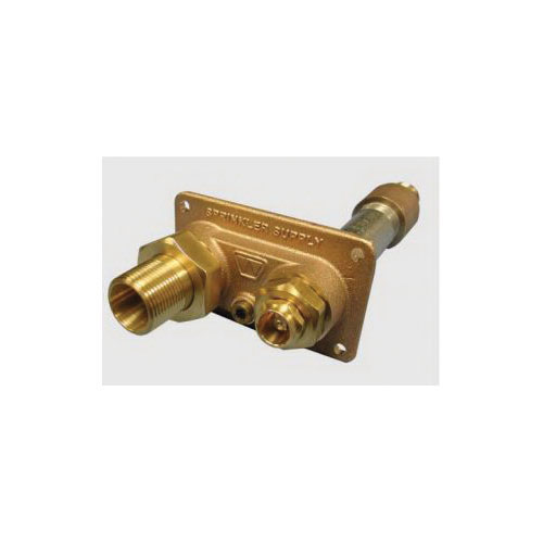 Woodford® 32P-10 Model 32 Freezeless Lawn Sprinkler Supply Wall Hydrant, 3/4 x 1 in, Combination FNPT x MNPT, 10 in THK Wall, 125 psi