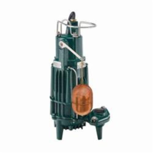 Zoeller® 161-0071 X160 1-Phase Single Seal Submersible Effluent Pump, 100 gpm Maximum, Automatic, 56 ft Maximum Head, 115 VAC