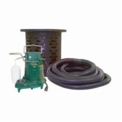 Zoeller® Crawl Space® 108 Pumping System, 19 to 43 gpm, 1/3 hp, Cast Iron