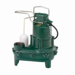 Zoeller® 264-0002 Waste-Mate 264 Single Phase Single Seal Submersible Pump, 90 gpm, 2 in NPT Outlet, 4/10 hp, 14-3/4 in H