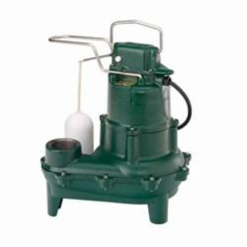 Zoeller® Waste-Mate 264 Single Phase Single Seal Submersible Pump, 90 gpm, 2 in NPT Outlet, 4/10 hp, Cast Iron