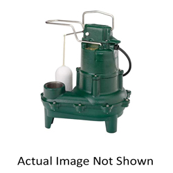 Zoeller® N267 Non-Automatic/Manual Operation Submersible Pump With Single Seal, 128 gpm, 2 in NPT Outlet, 0.5 hp