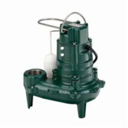 Zoeller® 267-0001 Waste-Mate 260 Submersible Pump, 128 gpm, 2 or 3 in NPT Outlet, 1/2 hp, 14-5/16 in H