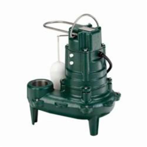 Zoeller® 266-0001 Waste-Mate 260 Submersible Pump, 128 gpm, 2 or 3 in NPT Outlet, 1/2 hp, 14-1/4 in H
