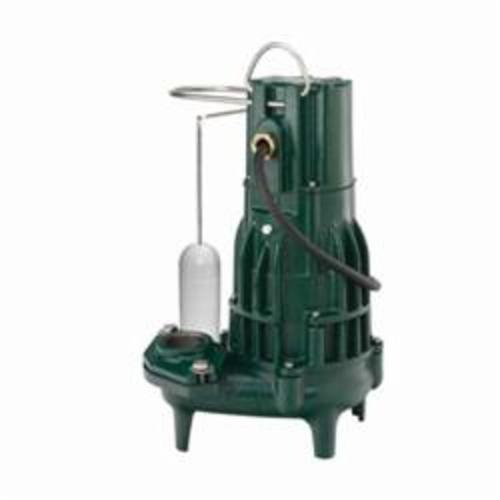 Zoeller® 294-0003 High Head Waste-Mate 290 Single Phase Single Seal Submersible Sewage Pump, 196 gpm, 2 or 3 in FNPT Outlet, 1-1/2 hp, Cast Iron