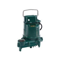 Zoeller® 53-0002 Mighty-Mate 50 Single Phase Single Seal Non-Automatic Submersible Pump With Single Seal, 43 gpm, 1-1/2 in NPT Outlet, 3/10 hp, Cast Iron, Domestic