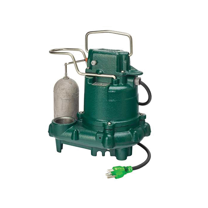 Zoeller® M63 Automatic Submersible Pump With Single Seal, 43 gpm, 1-1/2 in NPT Outlet, 0.3 hp, Cast Iron, Domestic