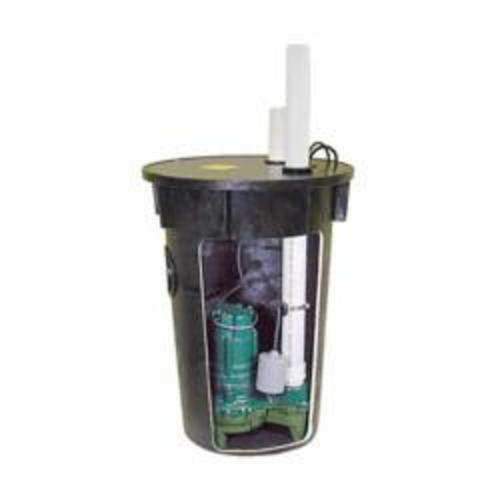 Zoeller® 912-1116 Preassembled Simplex Sewage Package System, 2 in Outlet