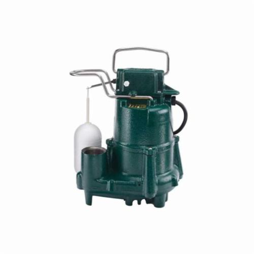 Zoeller® 98-0001 Flow-Mate M98 Automatic Effluent or Dewatering Submersible Pump, 73 gpm, 1-1/2 in Outlet, 1/2 hp, Cast Iron